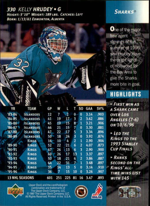 1996-97-Upper-Deck-Hk-Cards-201-390-Rookies-A2298-You-Pick-10-FREE-SHIP thumbnail 221