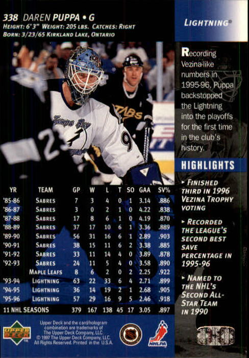 1996-97-Upper-Deck-Hk-Cards-201-390-Rookies-A2298-You-Pick-10-FREE-SHIP thumbnail 237
