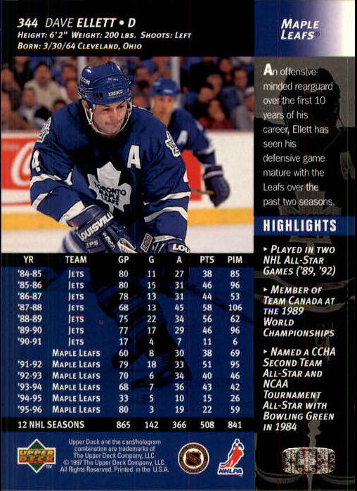 1996-97-Upper-Deck-Hk-Cards-201-390-Rookies-A2298-You-Pick-10-FREE-SHIP thumbnail 247