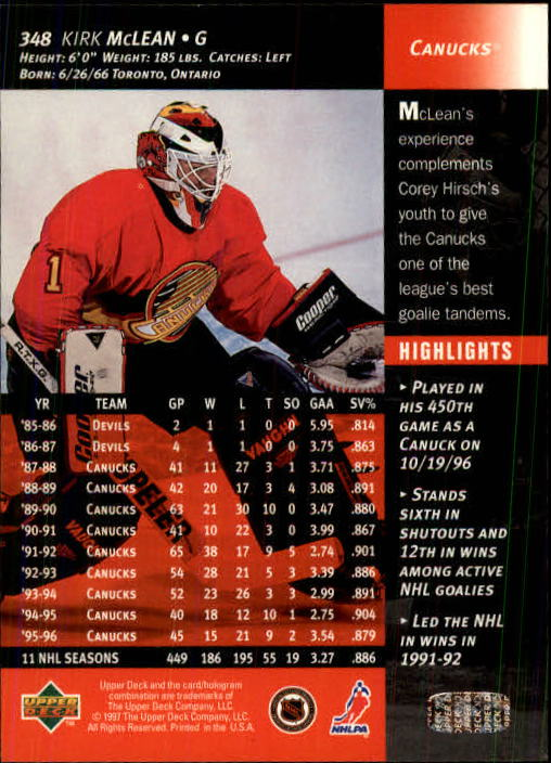1996-97-Upper-Deck-Hk-Cards-201-390-Rookies-A2298-You-Pick-10-FREE-SHIP thumbnail 255