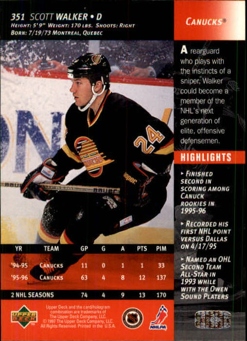 1996-97-Upper-Deck-Hk-Cards-201-390-Rookies-A2298-You-Pick-10-FREE-SHIP thumbnail 261