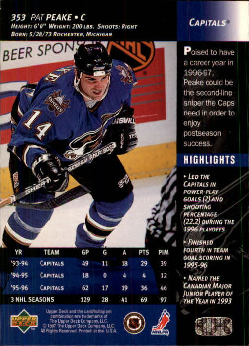 1996-97-Upper-Deck-Hk-Cards-201-390-Rookies-A2298-You-Pick-10-FREE-SHIP thumbnail 265