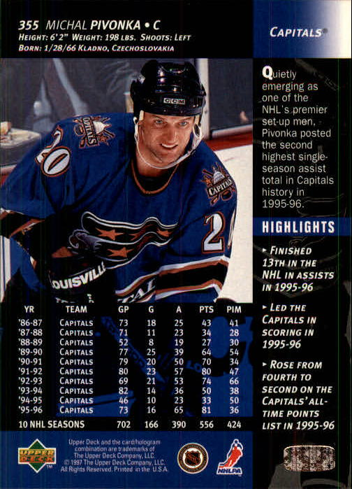 1996-97-Upper-Deck-Hk-Cards-201-390-Rookies-A2298-You-Pick-10-FREE-SHIP thumbnail 269