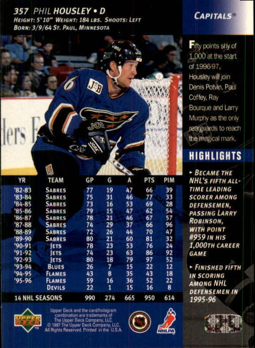1996-97-Upper-Deck-Hk-Cards-201-390-Rookies-A2298-You-Pick-10-FREE-SHIP thumbnail 271