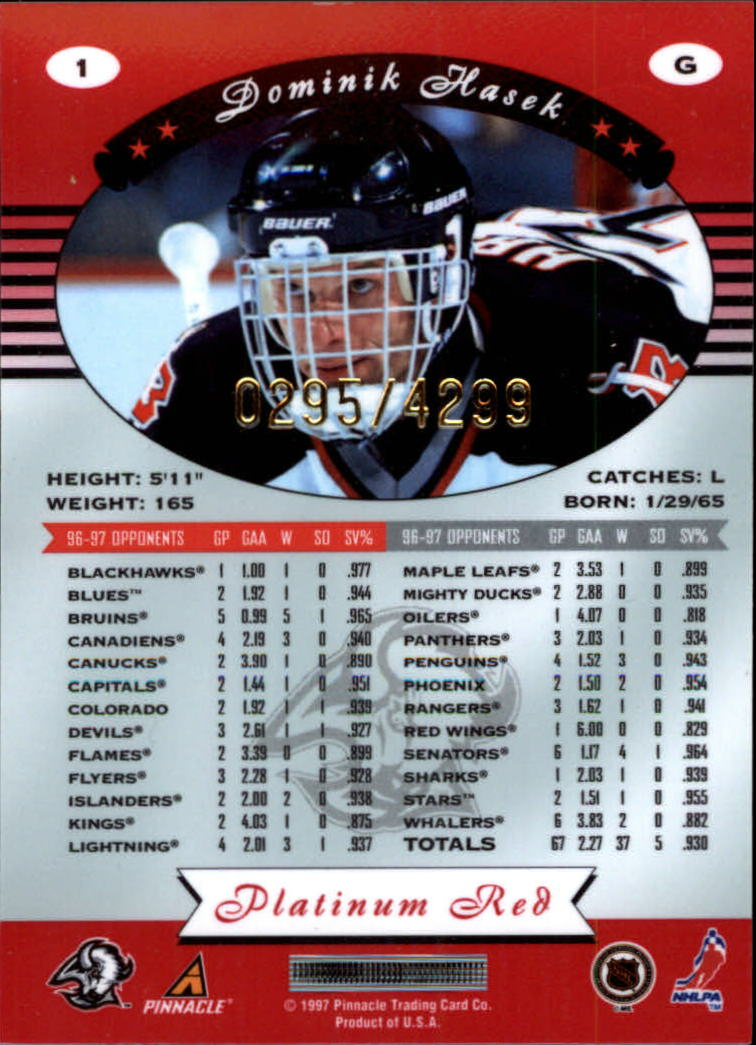 miniature 3 - 1997-98 Pinnacle Totally Certified Platinum Red Pick Your Player Cheap Shipping