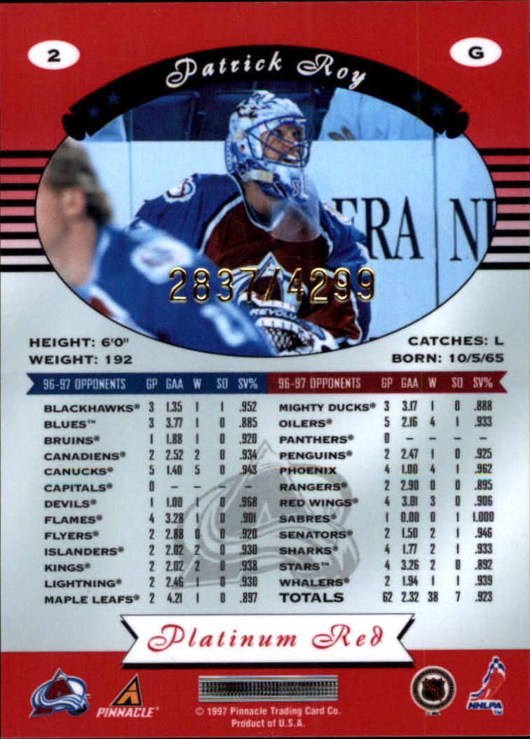 miniature 5 - 1997-98 Pinnacle Totally Certified Platinum Red Pick Your Player Cheap Shipping