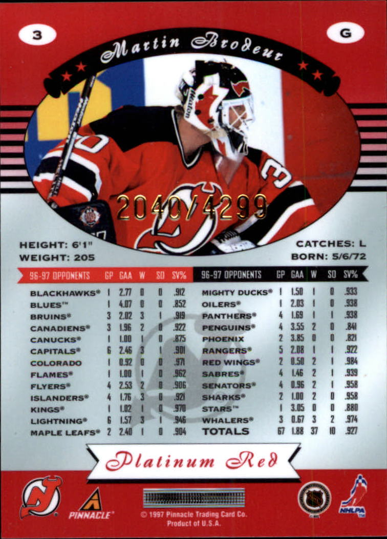 miniature 7 - 1997-98 Pinnacle Totally Certified Platinum Red Pick Your Player Cheap Shipping