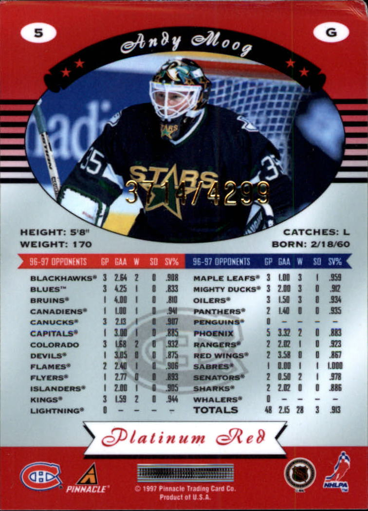 miniature 11 - 1997-98 Pinnacle Totally Certified Platinum Red Pick Your Player Cheap Shipping