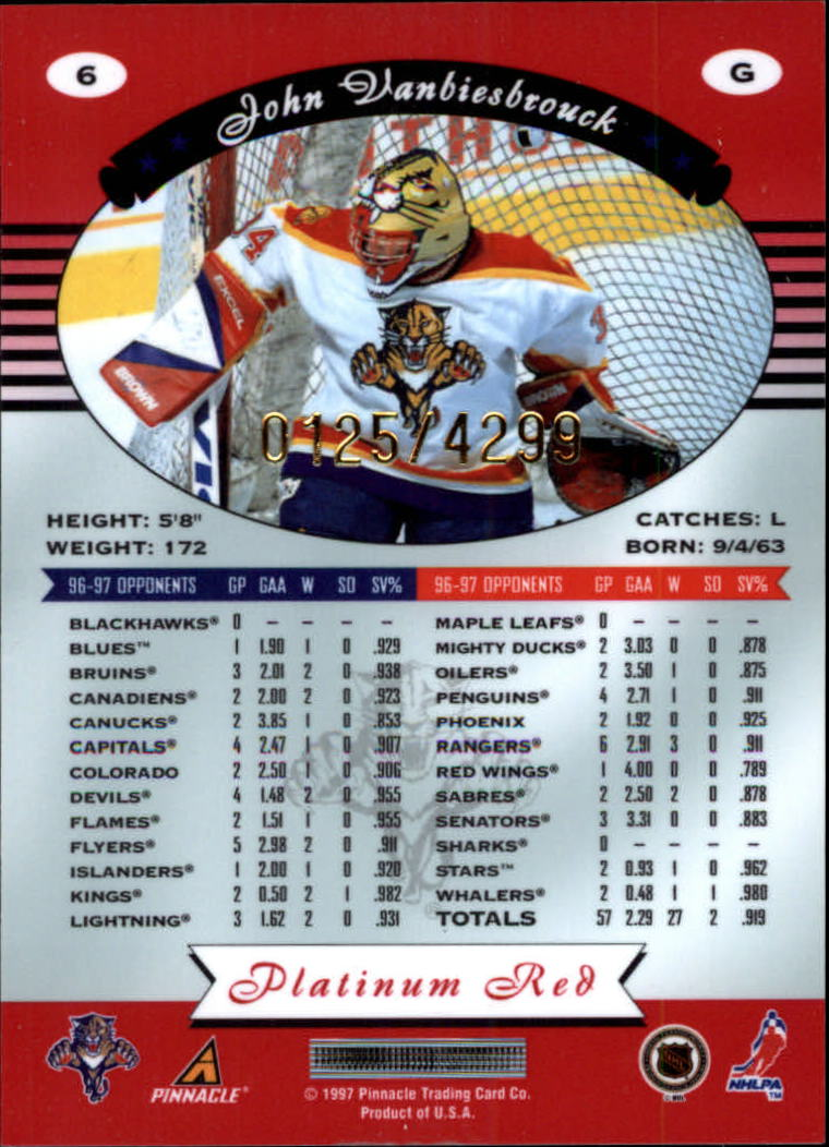 miniature 13 - 1997-98 Pinnacle Totally Certified Platinum Red Pick Your Player Cheap Shipping