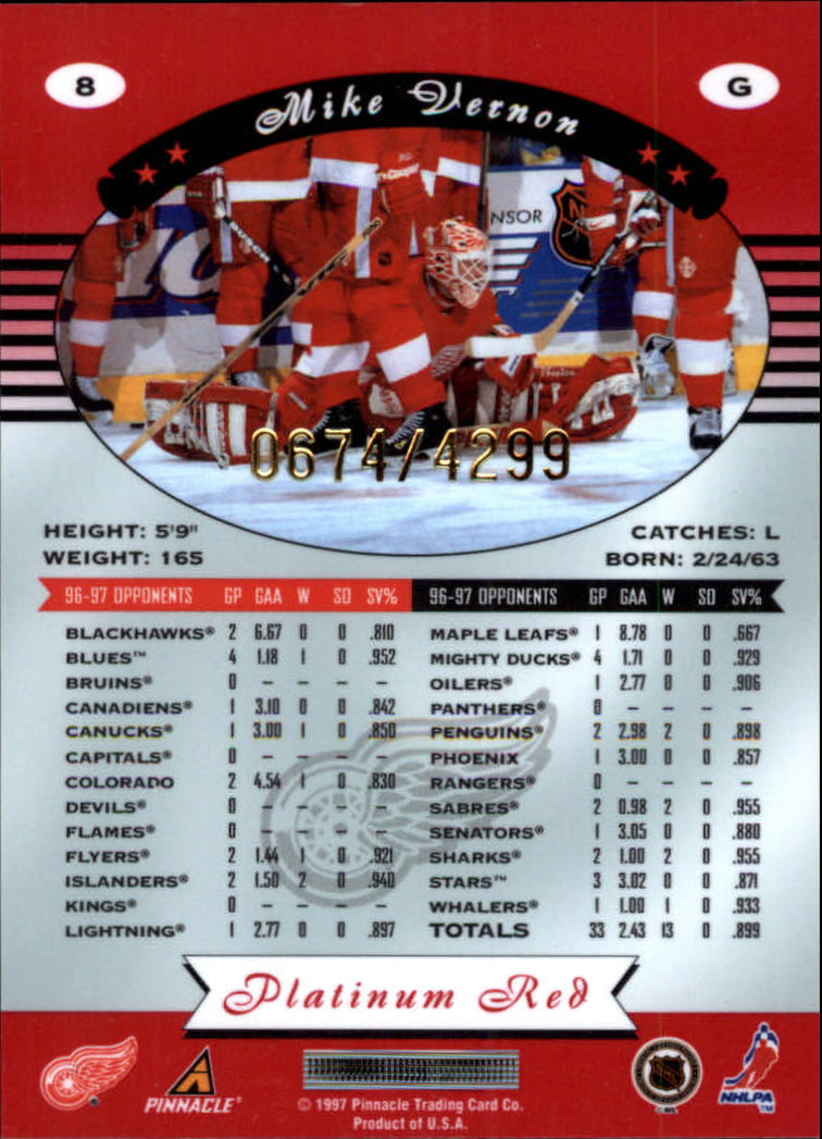 miniature 16 - 1997-98 Pinnacle Totally Certified Platinum Red Pick Your Player Cheap Shipping