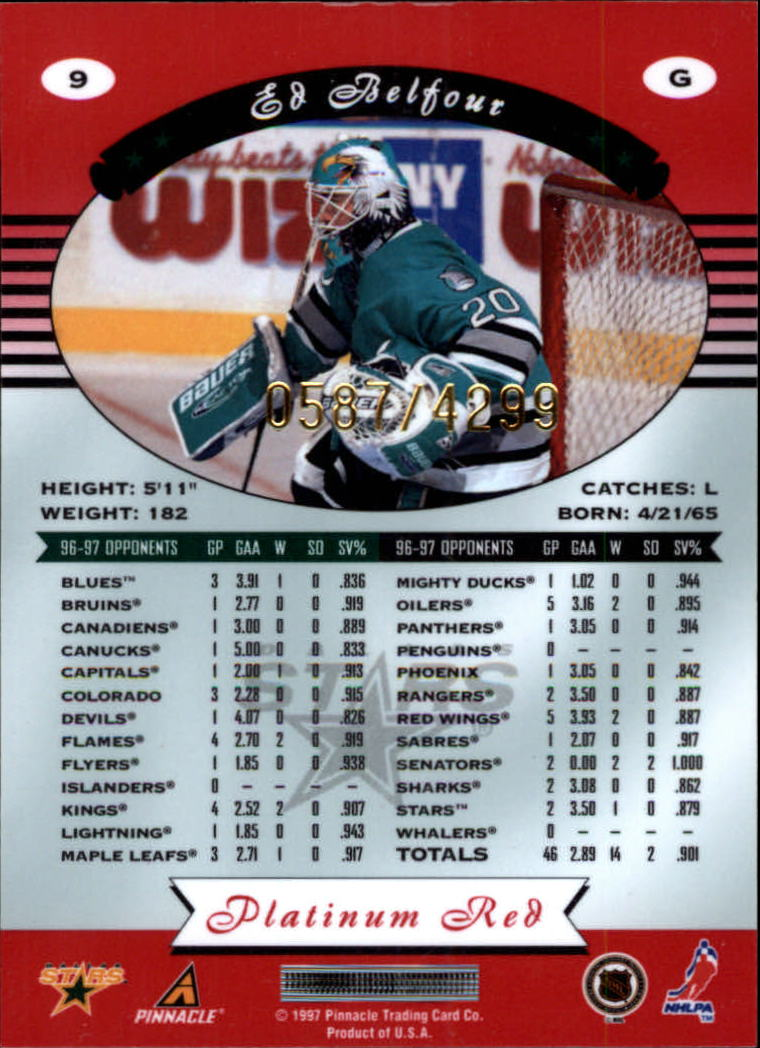 miniature 18 - 1997-98 Pinnacle Totally Certified Platinum Red Pick Your Player Cheap Shipping