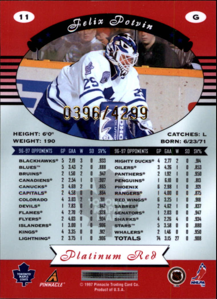 miniature 22 - 1997-98 Pinnacle Totally Certified Platinum Red Pick Your Player Cheap Shipping