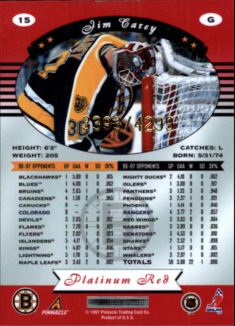 miniature 30 - 1997-98 Pinnacle Totally Certified Platinum Red Pick Your Player Cheap Shipping