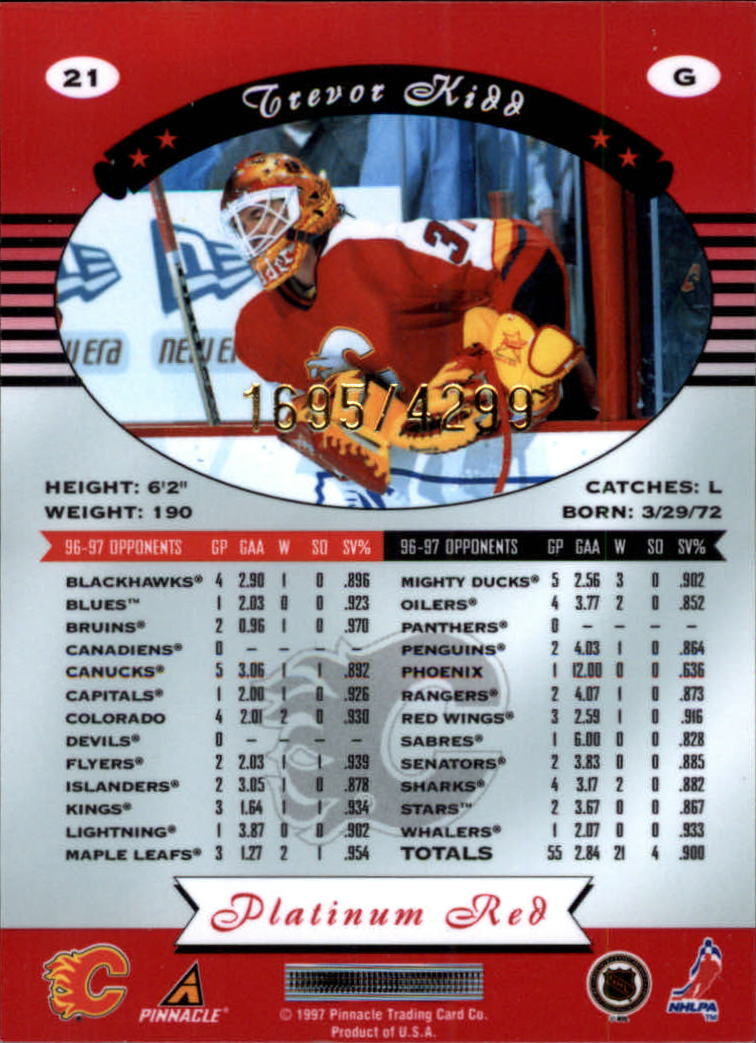 miniature 42 - 1997-98 Pinnacle Totally Certified Platinum Red Pick Your Player Cheap Shipping