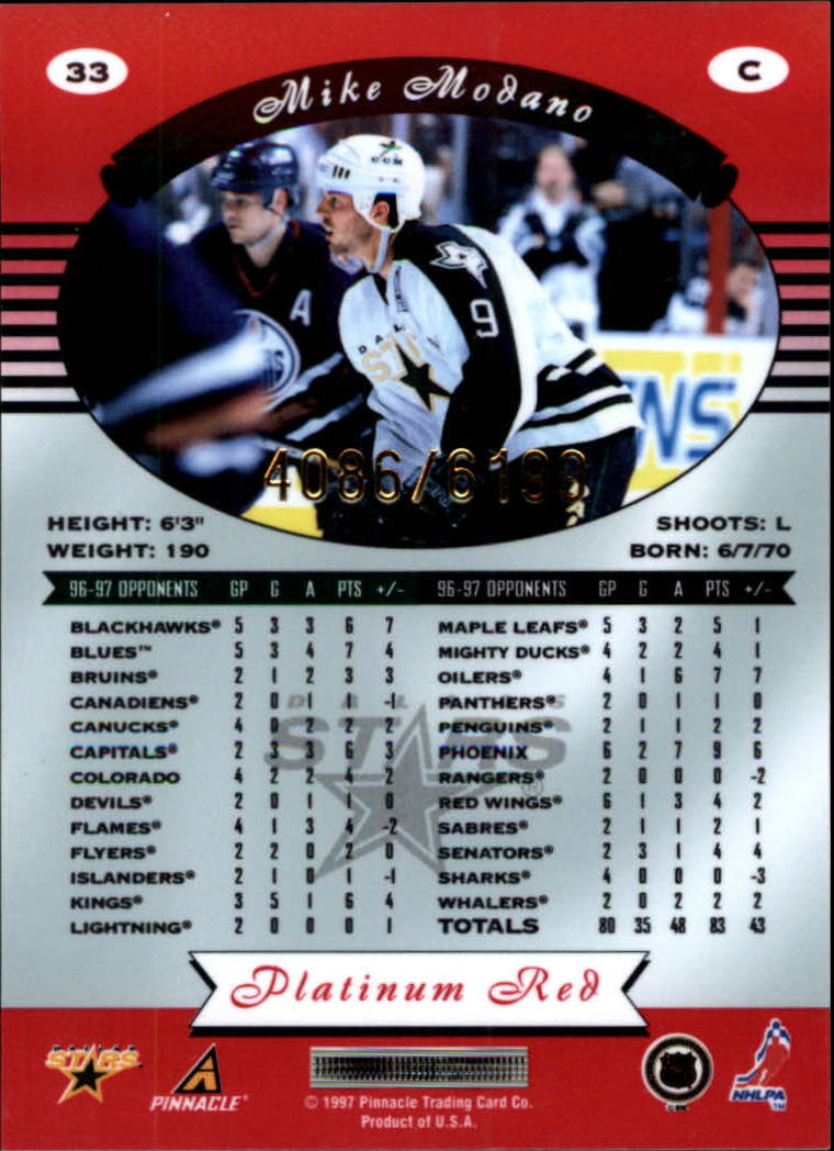 miniature 66 - 1997-98 Pinnacle Totally Certified Platinum Red Pick Your Player Cheap Shipping