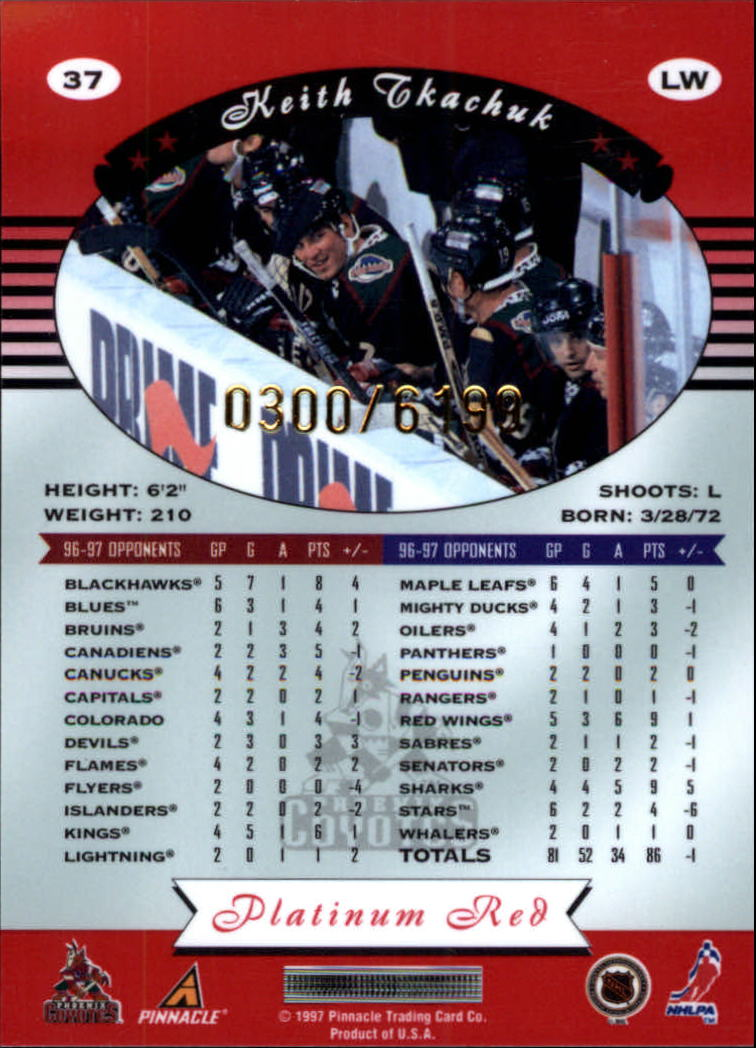 miniature 74 - 1997-98 Pinnacle Totally Certified Platinum Red Pick Your Player Cheap Shipping