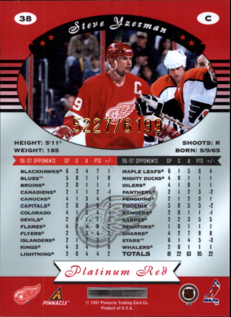 miniature 76 - 1997-98 Pinnacle Totally Certified Platinum Red Pick Your Player Cheap Shipping