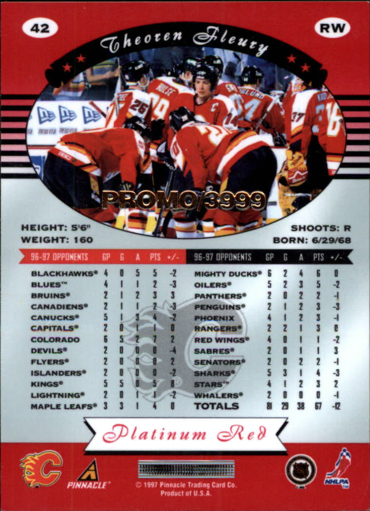 miniature 84 - 1997-98 Pinnacle Totally Certified Platinum Red Pick Your Player Cheap Shipping