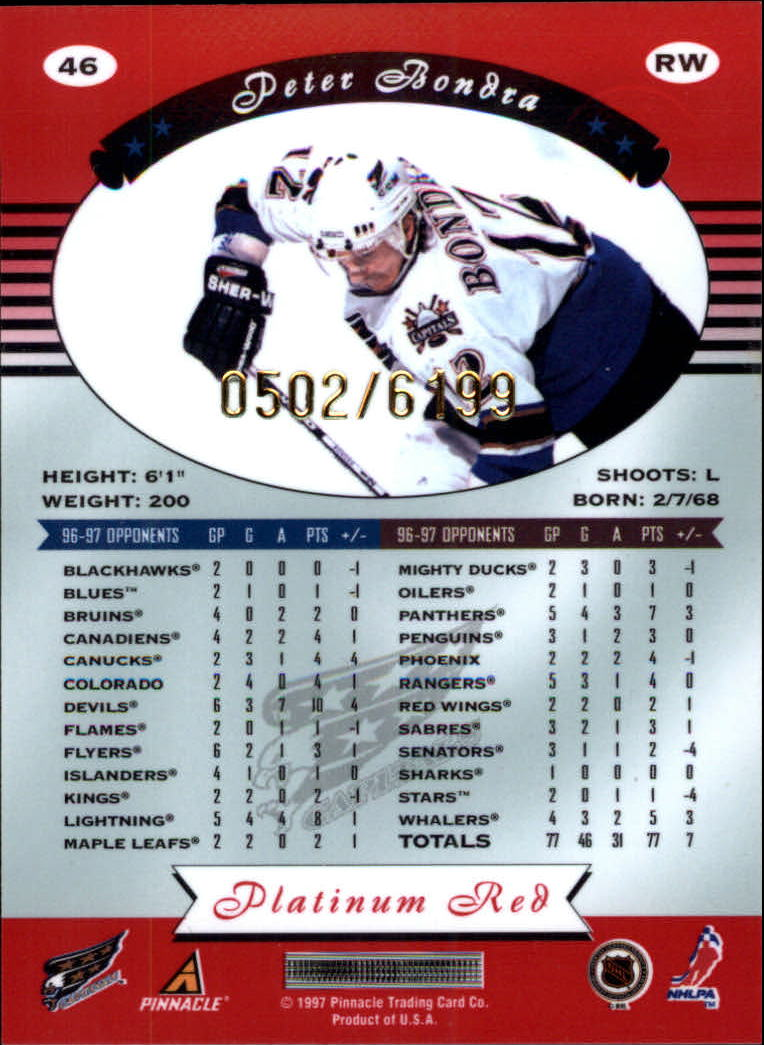 miniature 92 - 1997-98 Pinnacle Totally Certified Platinum Red Pick Your Player Cheap Shipping