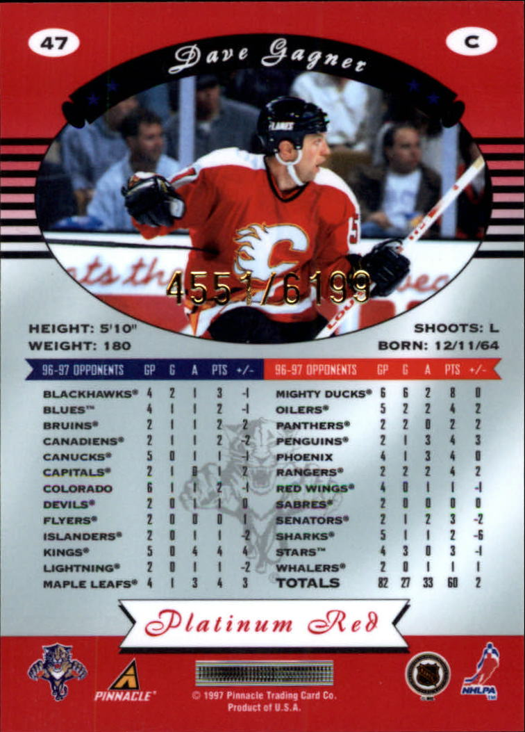 miniature 94 - 1997-98 Pinnacle Totally Certified Platinum Red Pick Your Player Cheap Shipping