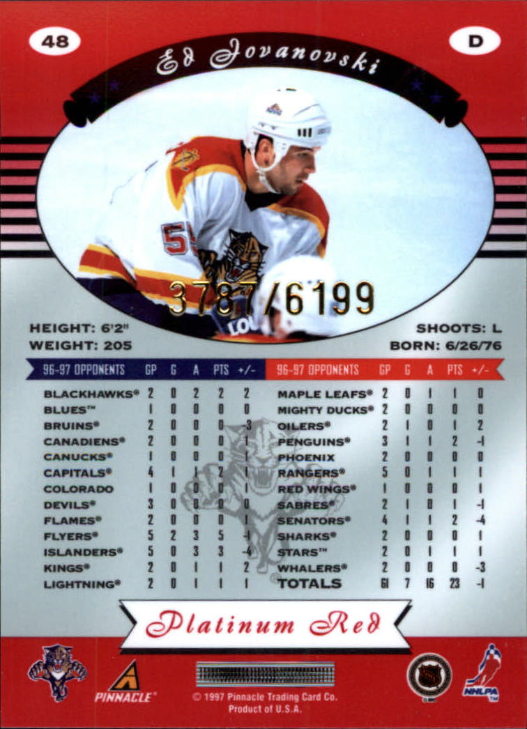 miniature 96 - 1997-98 Pinnacle Totally Certified Platinum Red Pick Your Player Cheap Shipping