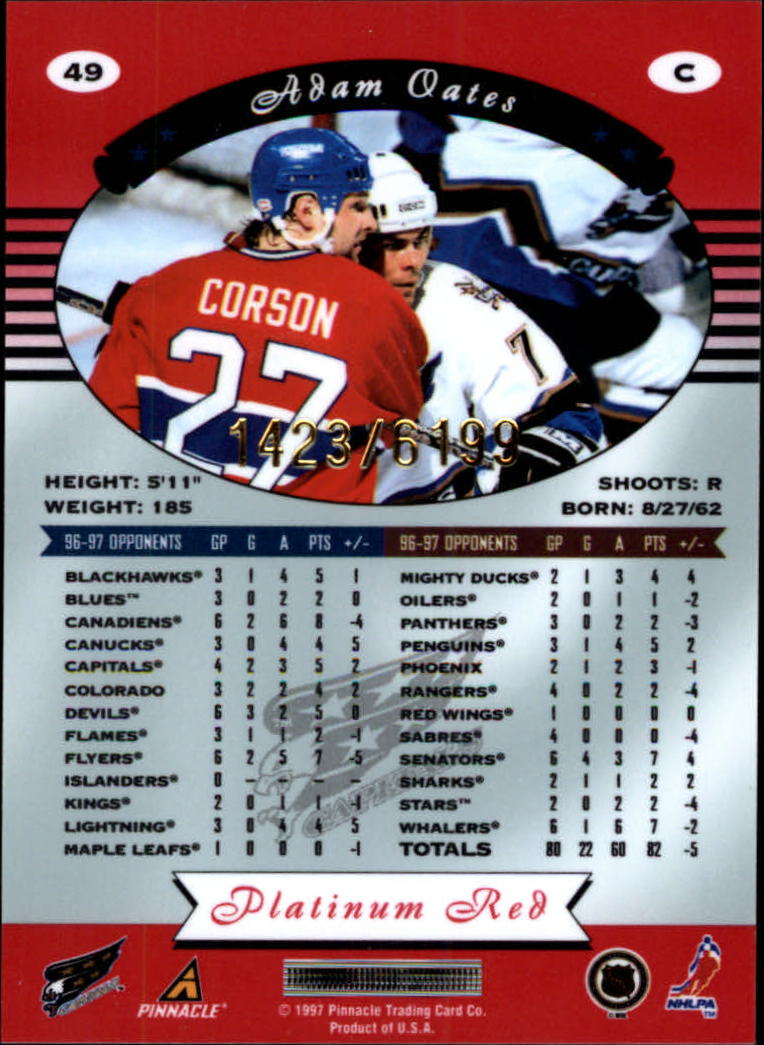 miniature 98 - 1997-98 Pinnacle Totally Certified Platinum Red Pick Your Player Cheap Shipping