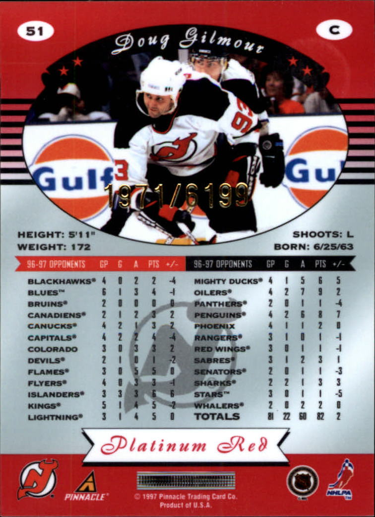 miniature 102 - 1997-98 Pinnacle Totally Certified Platinum Red Pick Your Player Cheap Shipping