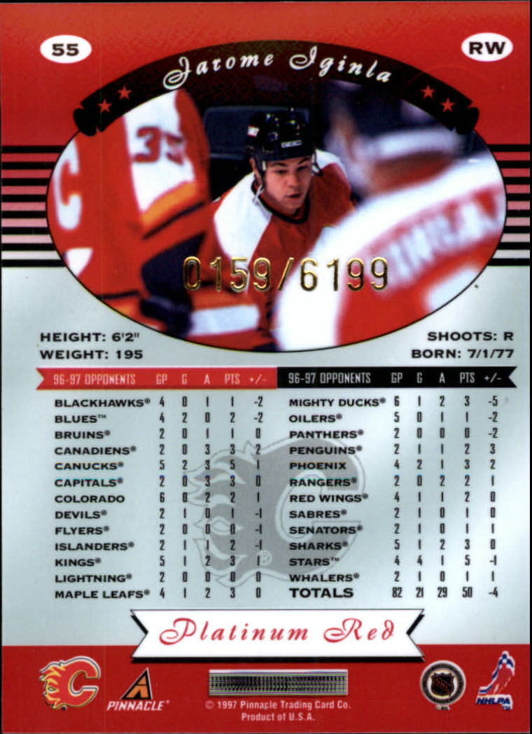 miniature 110 - 1997-98 Pinnacle Totally Certified Platinum Red Pick Your Player Cheap Shipping