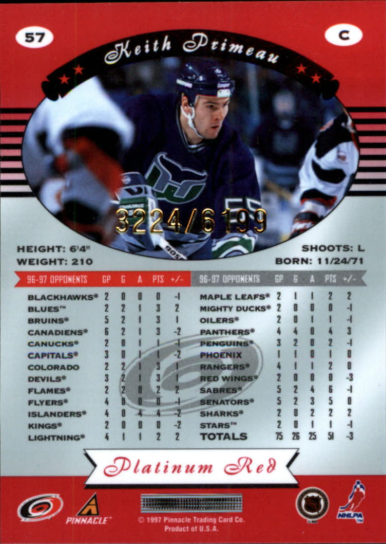 miniature 114 - 1997-98 Pinnacle Totally Certified Platinum Red Pick Your Player Cheap Shipping