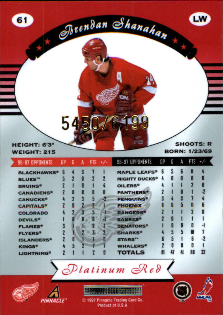 miniature 122 - 1997-98 Pinnacle Totally Certified Platinum Red Pick Your Player Cheap Shipping