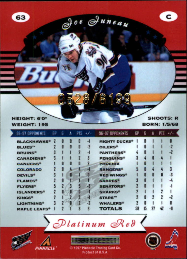 miniature 126 - 1997-98 Pinnacle Totally Certified Platinum Red Pick Your Player Cheap Shipping