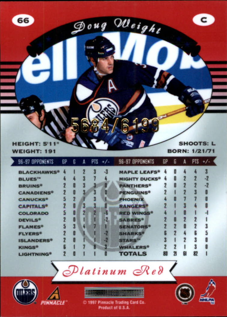 miniature 132 - 1997-98 Pinnacle Totally Certified Platinum Red Pick Your Player Cheap Shipping