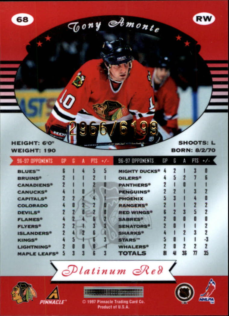 miniature 136 - 1997-98 Pinnacle Totally Certified Platinum Red Pick Your Player Cheap Shipping