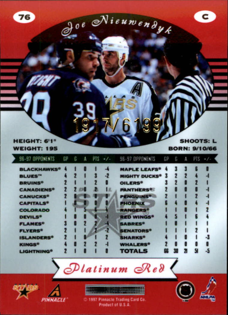 miniature 152 - 1997-98 Pinnacle Totally Certified Platinum Red Pick Your Player Cheap Shipping
