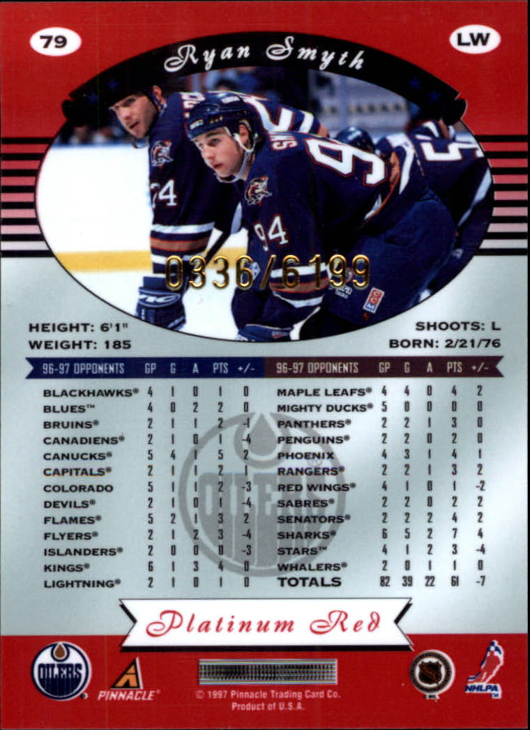 miniature 158 - 1997-98 Pinnacle Totally Certified Platinum Red Pick Your Player Cheap Shipping
