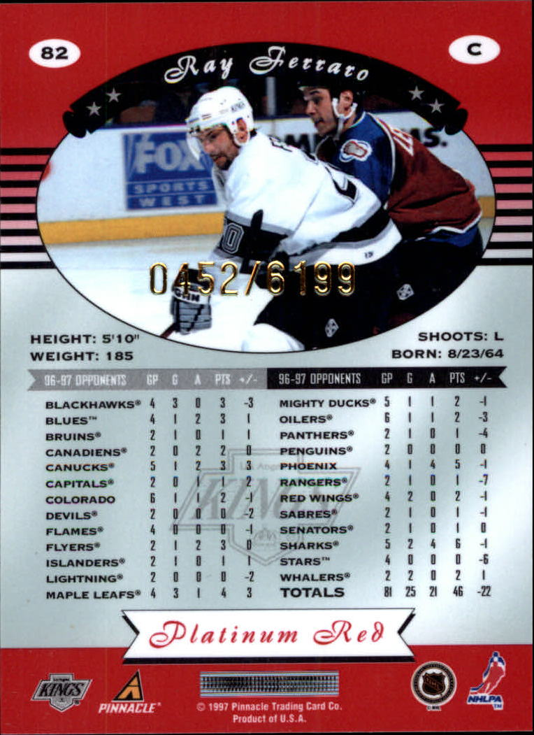 miniature 164 - 1997-98 Pinnacle Totally Certified Platinum Red Pick Your Player Cheap Shipping