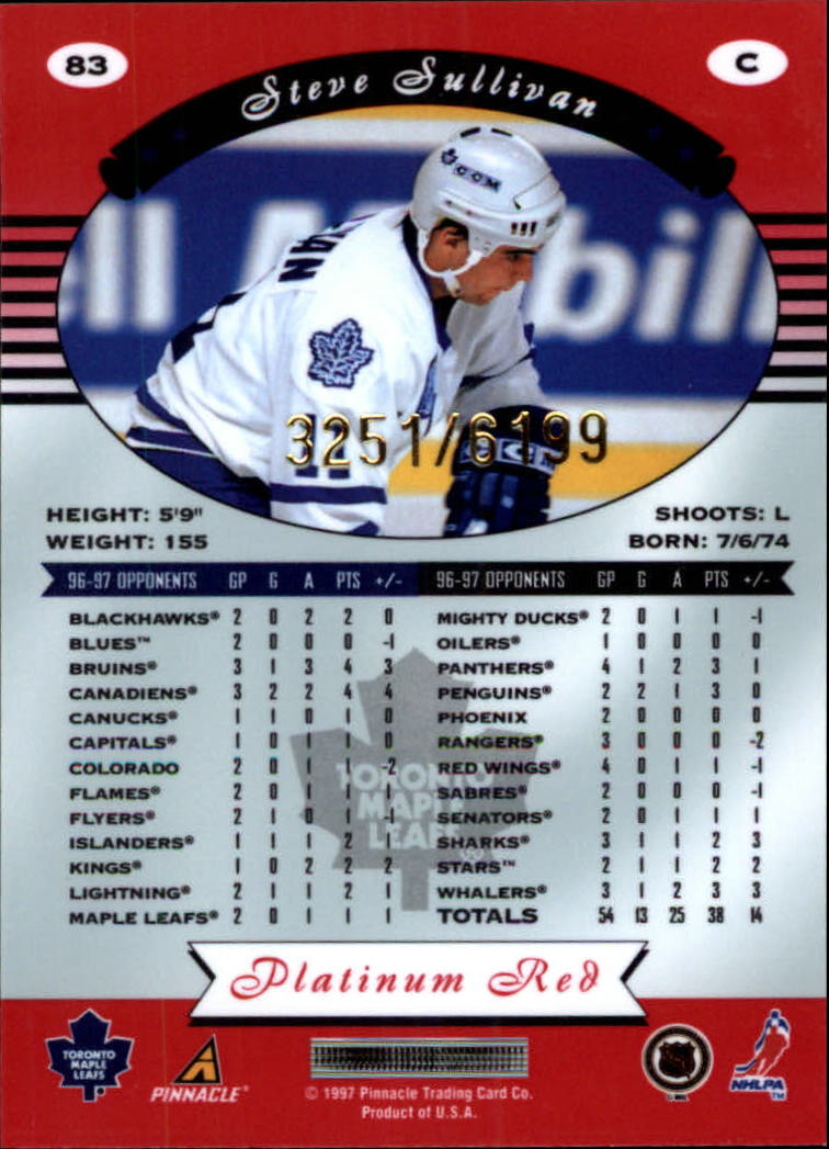 miniature 166 - 1997-98 Pinnacle Totally Certified Platinum Red Pick Your Player Cheap Shipping