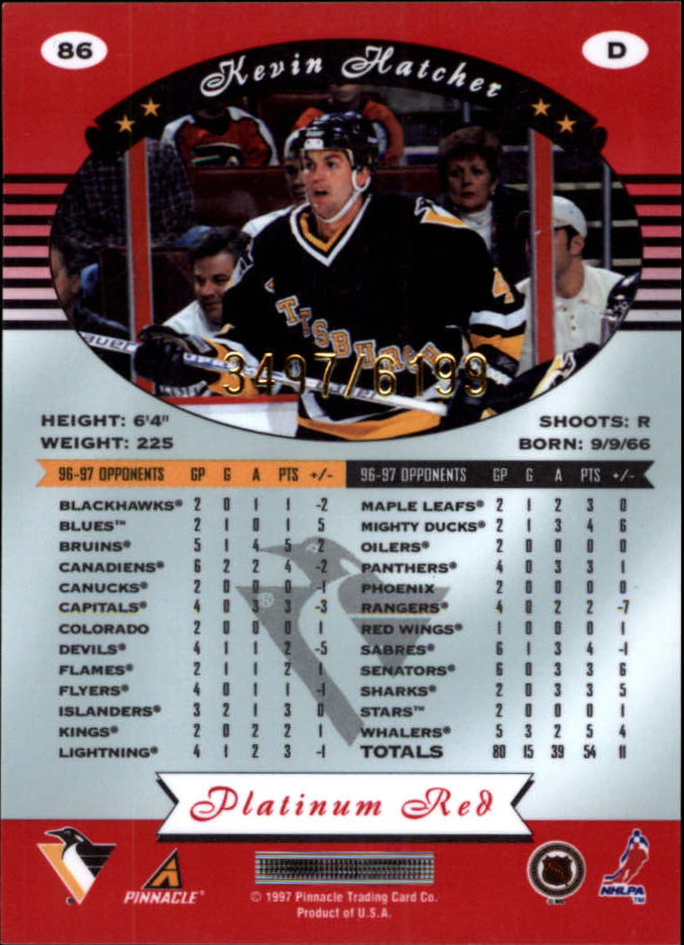 miniature 172 - 1997-98 Pinnacle Totally Certified Platinum Red Pick Your Player Cheap Shipping