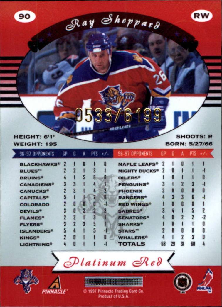 miniature 180 - 1997-98 Pinnacle Totally Certified Platinum Red Pick Your Player Cheap Shipping