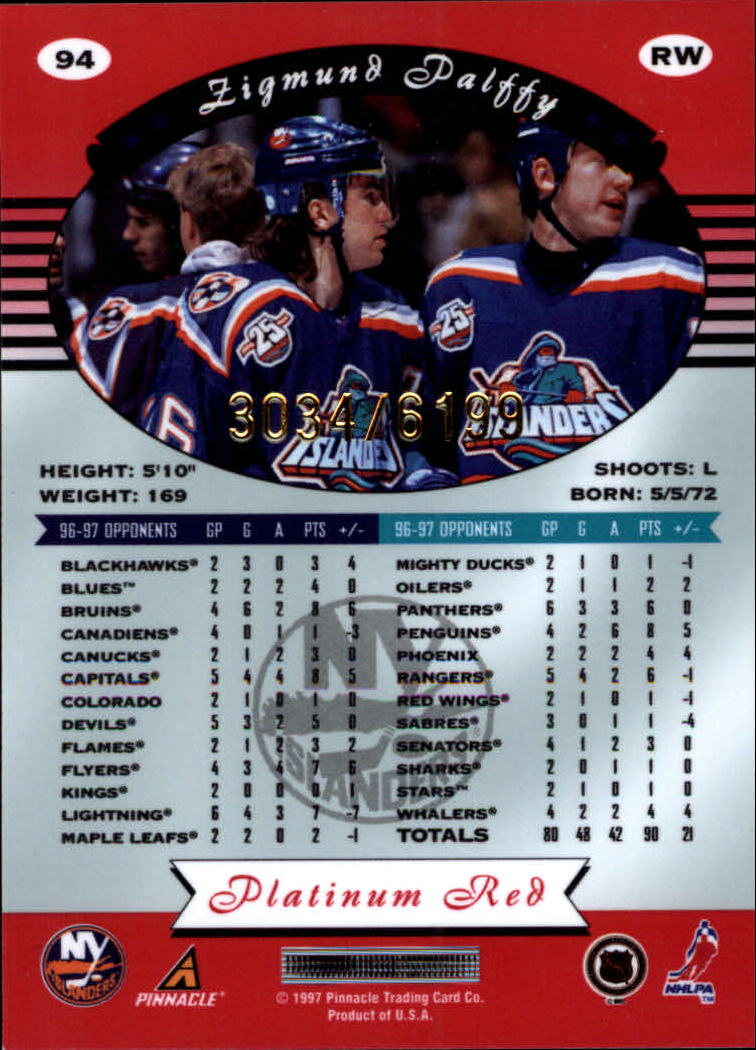 miniature 188 - 1997-98 Pinnacle Totally Certified Platinum Red Pick Your Player Cheap Shipping