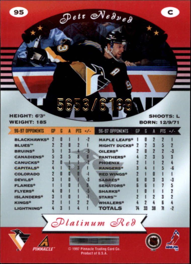 miniature 190 - 1997-98 Pinnacle Totally Certified Platinum Red Pick Your Player Cheap Shipping