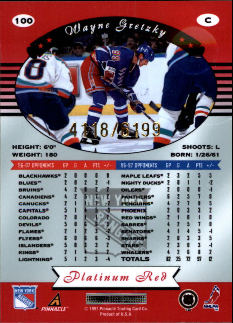 miniature 200 - 1997-98 Pinnacle Totally Certified Platinum Red Pick Your Player Cheap Shipping