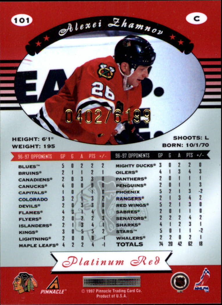 miniature 202 - 1997-98 Pinnacle Totally Certified Platinum Red Pick Your Player Cheap Shipping