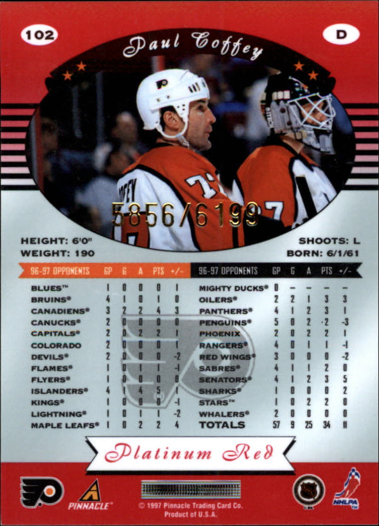 miniature 204 - 1997-98 Pinnacle Totally Certified Platinum Red Pick Your Player Cheap Shipping
