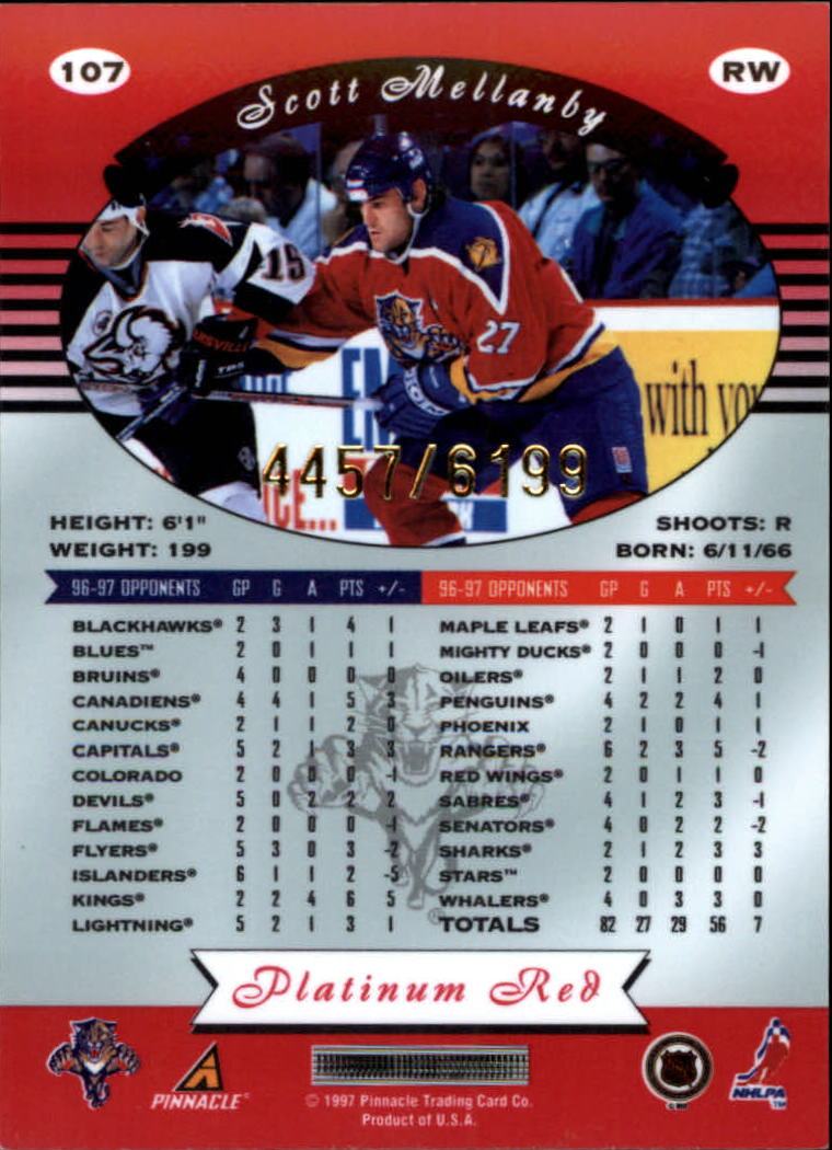 miniature 214 - 1997-98 Pinnacle Totally Certified Platinum Red Pick Your Player Cheap Shipping