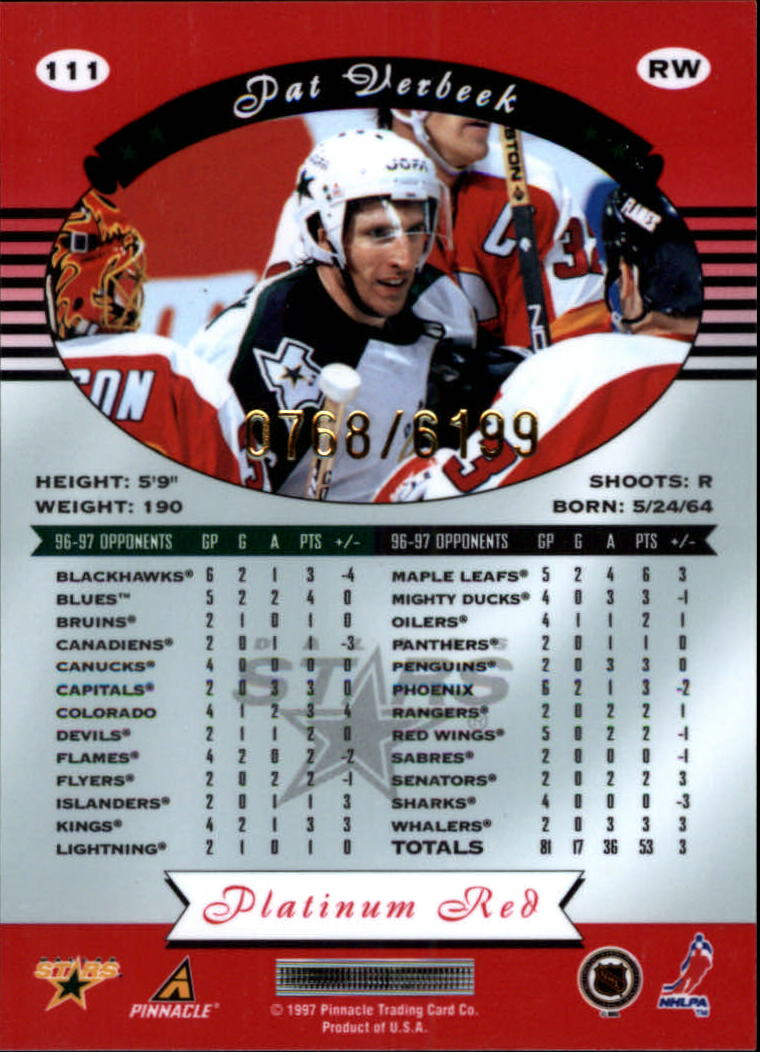 miniature 222 - 1997-98 Pinnacle Totally Certified Platinum Red Pick Your Player Cheap Shipping
