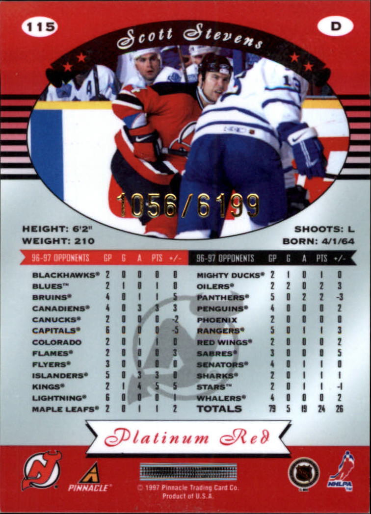 miniature 230 - 1997-98 Pinnacle Totally Certified Platinum Red Pick Your Player Cheap Shipping