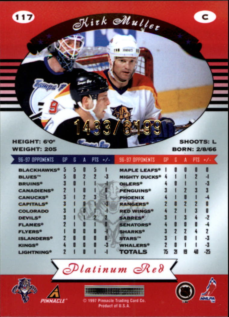 miniature 234 - 1997-98 Pinnacle Totally Certified Platinum Red Pick Your Player Cheap Shipping