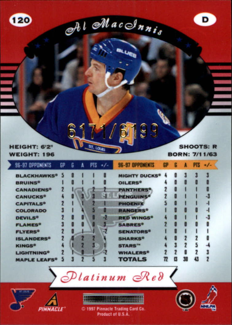 miniature 240 - 1997-98 Pinnacle Totally Certified Platinum Red Pick Your Player Cheap Shipping
