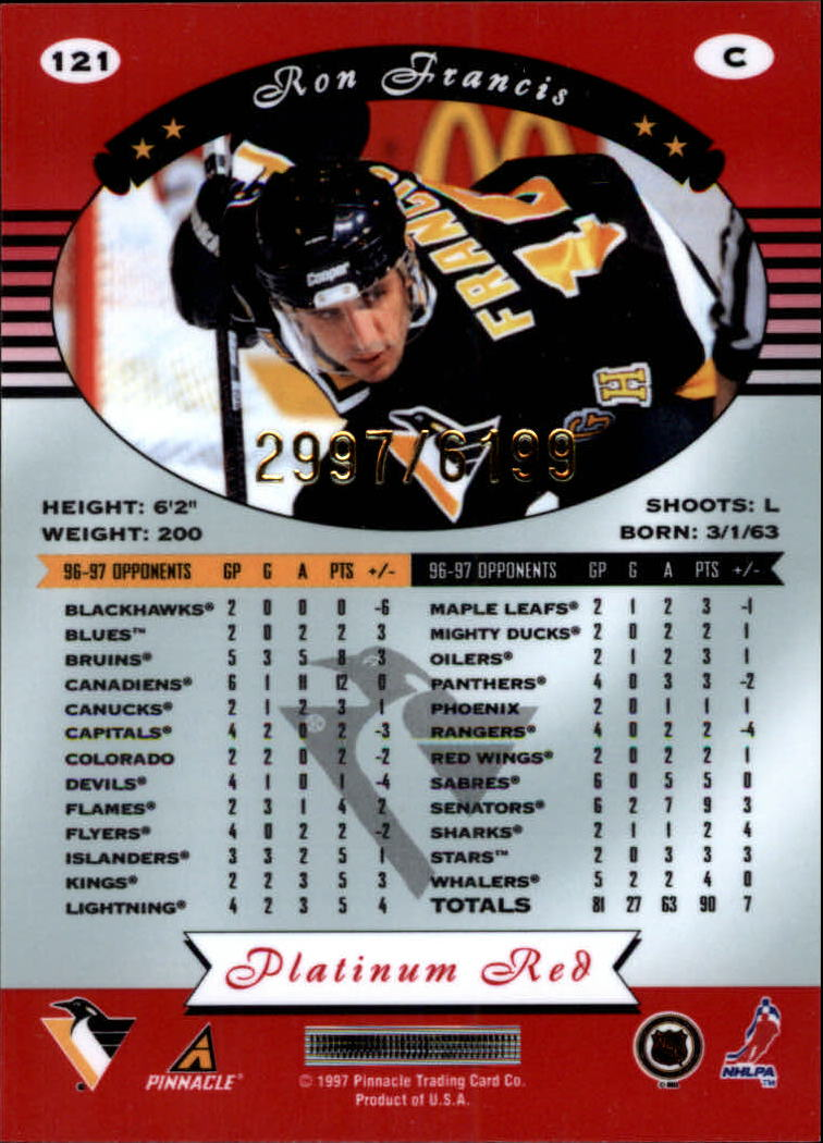 miniature 242 - 1997-98 Pinnacle Totally Certified Platinum Red Pick Your Player Cheap Shipping
